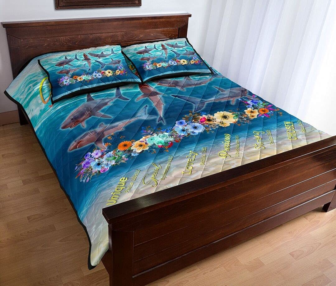 Personalized Ranking Dedication TOP3 Shark Quilt - God Says You Mom Sets are to Da