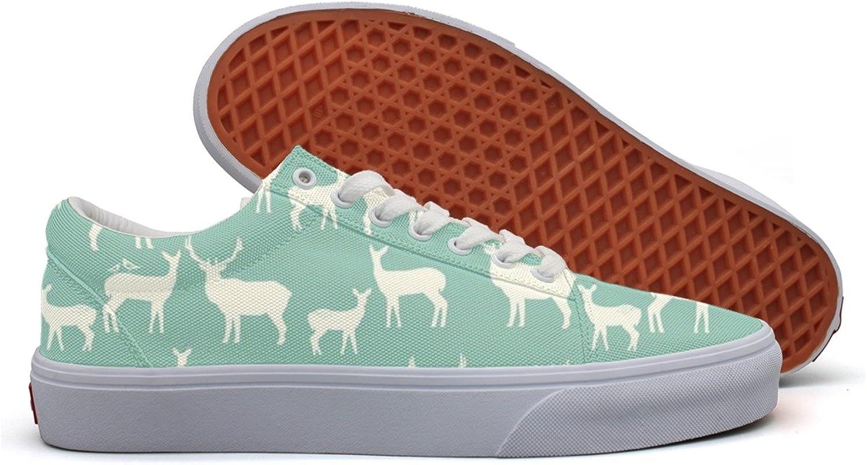 Reindeer Elk Family Deer Women's Casual Sneakers shoes Slip-On Cool Low Top Vegan
