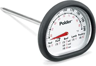 Polder 12454 Meat Thermometer Stainless Steel
