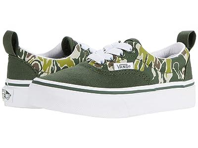Vans Kids Era Elastic Lace (Little Kid) ((Camo Checkerboard) Kombu Green/True White) Boy