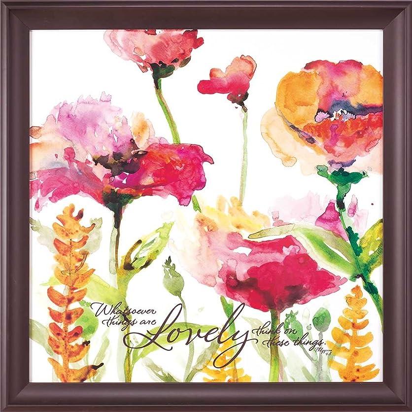 誕生タクシー前提条件Dicksons Whatsoever Things Are Lovely水彩Florals 24?x 24木製壁Sign Plaque