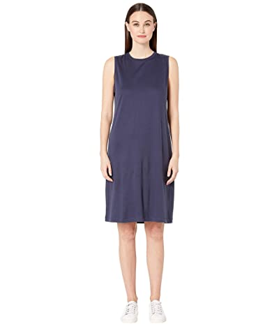 Eileen Fisher Fluid Tencel Shift Dress (Indigo) Women