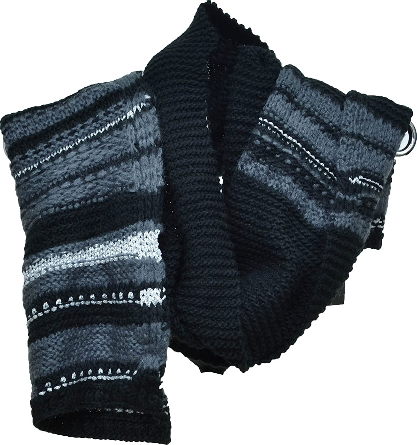 Inc International Concepts Crochet Shine Scarf Black