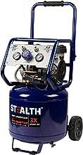 Stealth 12 Gallon Ultra Quiet Air Compressor, 1.5 HP Oil-Free Peak 150 PSI 68 Decibel Air..