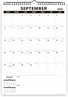 Nekmit 2020-2021 Academic Monthly Wall Calendar, Family Schedule Calendar for Home Schooling Plan, Ruled Blocks, 17 x 12, ...