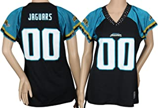 Jacksonville Jaguars NFL Women's Team Field Flirt Fashion Jersey, Black