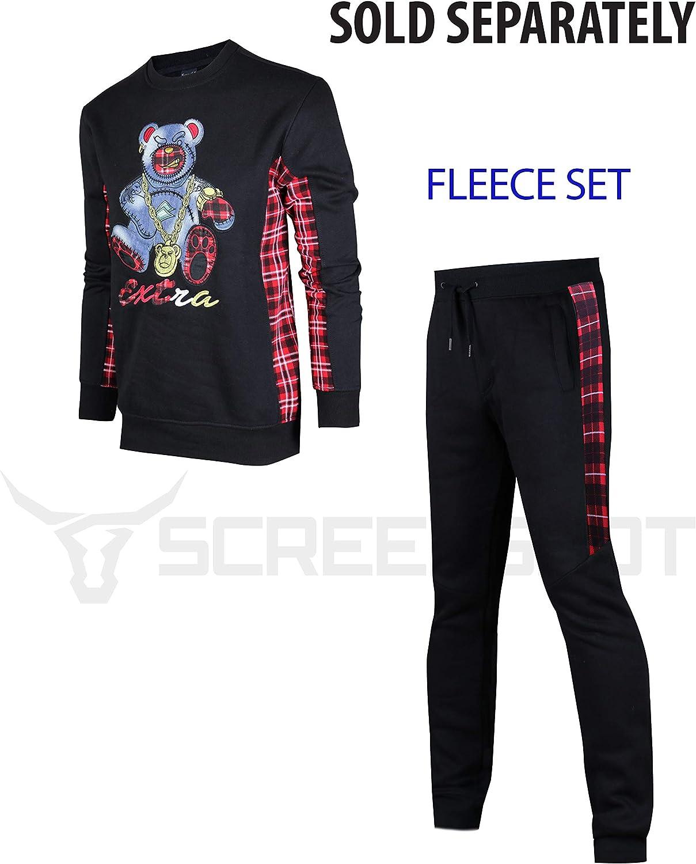 Screenshotbrand Mens Urban Hip Hop Premium Fleece Pullover Activewear Street Fashion Crew Neack Sweatshirt