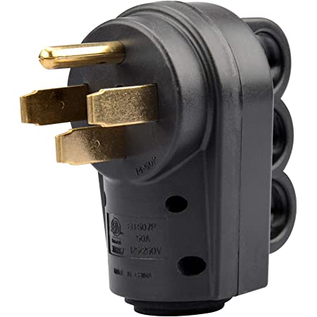 Decor 50 AMP End Socket With Handle Fit for RV Male Power Cord Replacement Plug