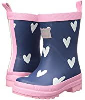 Hatley Kids - Scattered Red Hearts on Navy Rain Boots (Toddler/Little Kid)