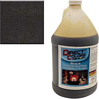 black concrete stain