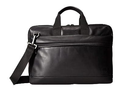 KNOMO London Barbican Roscoe Laptop Briefcase (Black) Briefcase Bags
