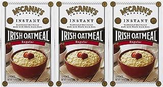 McCann's Irish Oatmeal, Instant Oatmeal, Regular, 12 Packets, 28 g Each (Pack of 3)