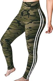 女性のスキニーパンツカモフラージュcasaulスポーツ固体の弾性があるウエスト