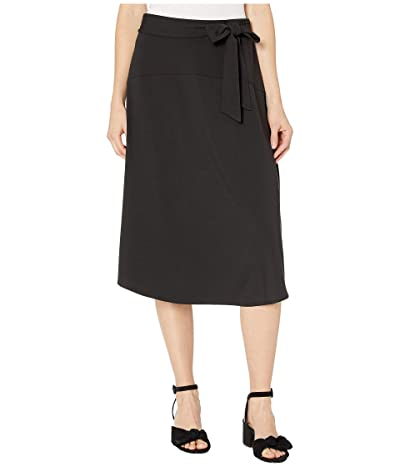 Tommy Bahama Solid Tambour Midi Skirt (Black) Women