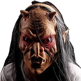 WNGCAR AU Halloween Masquerade Mask Whole Human Grimace Red Eyes Gray Horror Mask