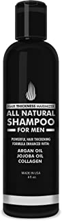 Hair Growth Shampoo for Men - Hair Thickening Shampoo by Hair Thickness Maximizer. Best Treatment for Thinning and Hair Loss. Paraben Free, with Argan Oil