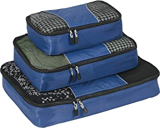 Classic Packing Cubes for Travel - 3pc Set - (Denim)