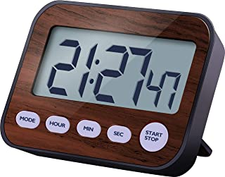 Timer Digital Timers, Kitchen Timer with Alarm Clock for Cooking or Office, Have Strong Magnet and Stand used on metal plane or plane. (Brown color)