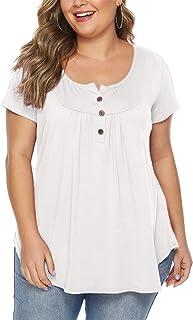 f7c51fe7924c Amazon.es: tallas grandes mujer - Blanco / Blusas y camisas ...