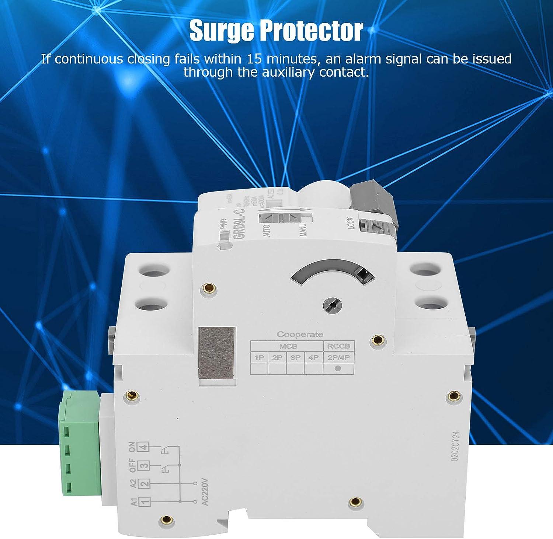 25A Jeanoko Protecci/ón contra sobretensiones 2P de garant/ía de Calidad Protector contra sobretensiones de 220 V para componentes electr/ónicos de 220 V