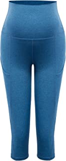 Women Maternity Over The Belly Active Lounge Comfy Capri...