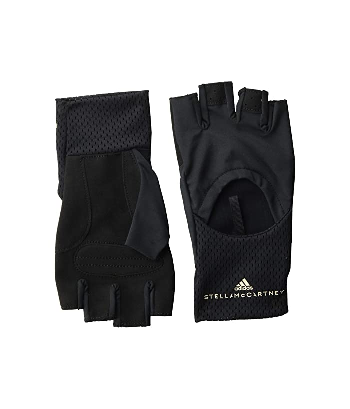 adidas by Stella McCartney  Two-Tone Training Gloves FJ2504 (Black/Black/Reflective Silver) Cycling Gloves