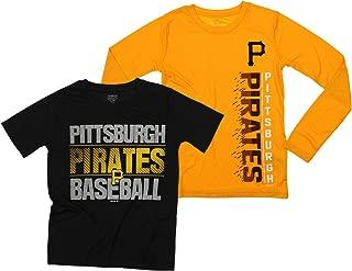 Outerstuff MLB Boys Youth (8-20) Baseball Fan Two Piece LS & SS Performance T-Shirt Combo Set