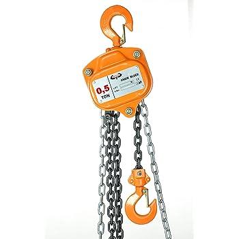 2000 kg 5,0 m Kettenzug Seilzug Flaschenzug PROFI 2 t Herzform