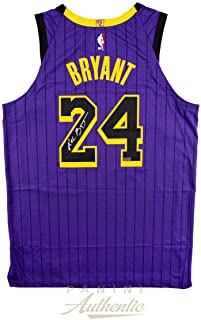 KOBE BRYANT Autographed Lakers Authentic 2019 City Edition #24 Jersey PANINI