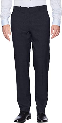 Slim Fit Heathered Plaid Dress Pants