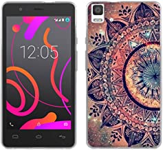 BQ Aquaris E5 4G Case Cover, FUBAODA [Drop Protection][Shockproof][Ultra Slim] Light Soft Rubber Gel TPU Silicone Printed ...