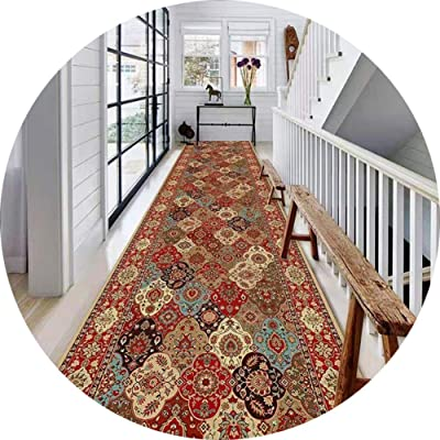 JIAJUAN Hallway Traditional Runner Rug Anti-Slip Collection Area Rugs Indoor Bedroom Kitchen Entrance Mat Custom Size (Color : A, Size : 1x1m)