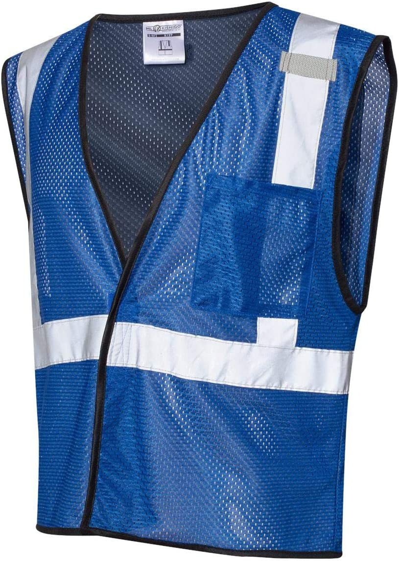ML Kishigo Men's Enhanced Visibility Economy Mesh Vest - Royal Blue, Large/XL, Model Number B121-L-XL