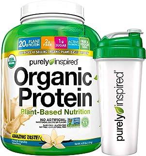 Purely Inspired Vegan Protein Powder + Shaker Bottle | Organic Protein Powder | Plant Based Protein Powder ...