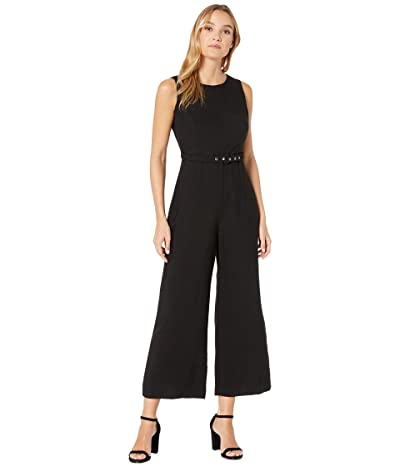 Bardot Belted Jumpsuit (Black) Women