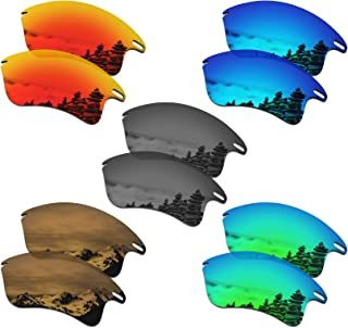 SmartVLT Set of 5 Men's Replacement Lenses for Oakley Fast Jacket XL Sunglass Combo Pack S02