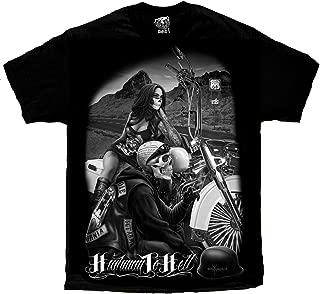 Men's David Gonzales Art DGA Highway To Hell Ride Or Die T Shirt