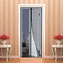Magnetisch vliegengaas voor balkondeuren 90 x 220 cm | 35 x 87 inch muggennet voor deuren, magnetisch vliegengaas voor ins...