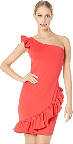 Asymmetrical Ruffle Dress