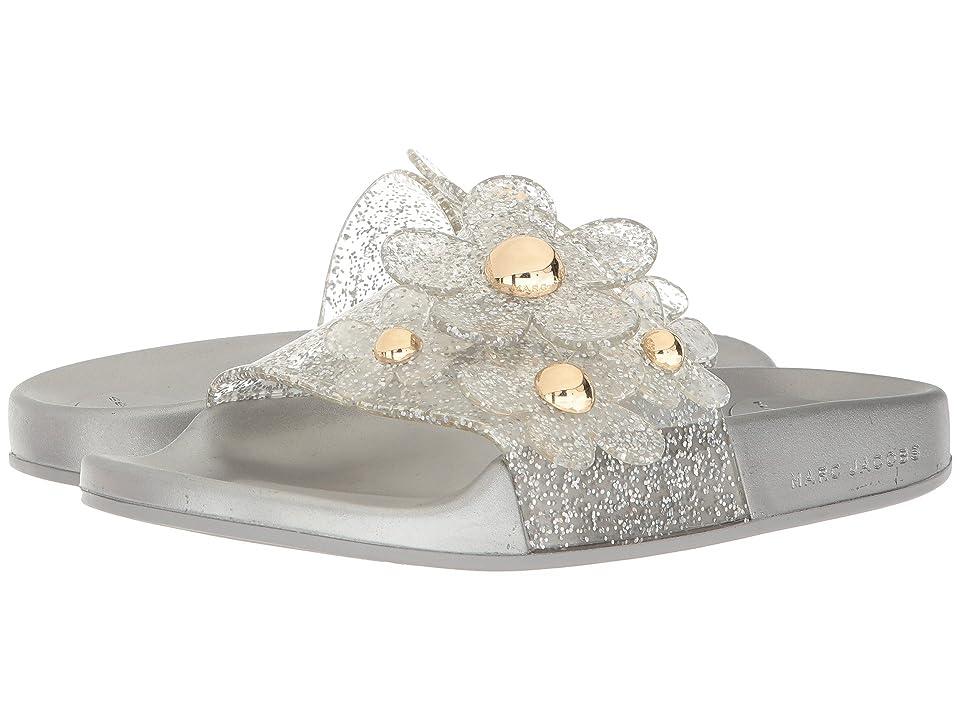 Marc Jacobs Daisy Aqua Slide (Silver) Women