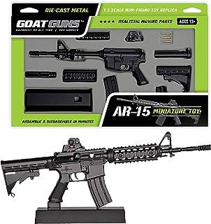 GoatGuns Miniature AR15 Model Toy Black   1:3 Scale Die Cast Metal Build Kit