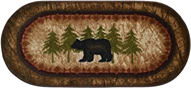 "Cozy Cabin CC5276 Birch Bear Non Skid Rug 20""x44"" Wedge Brown"