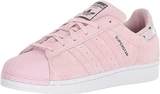 adidas Originals Superstars Running Shoe, Clear Pink/White, 3.5 M US Big Kid
