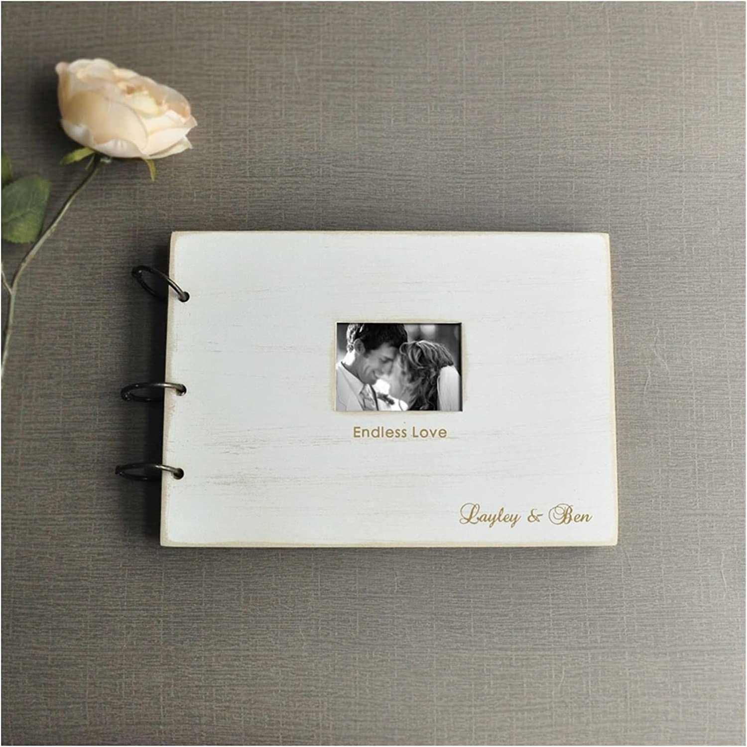 HUMINGG Wedding Max 58% OFF Guest Book Cheap mail order sales Photo Custom Perso
