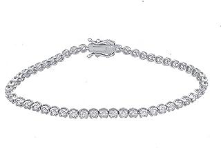 IGI معتمد 2 3/8 قيراط سوار الماس الطبيعي 18 قيراط الذهب الأبيض (HI Color ، I1-I2 الوضوح) سوار الماس للنساء مجوهرات الماس ه...
