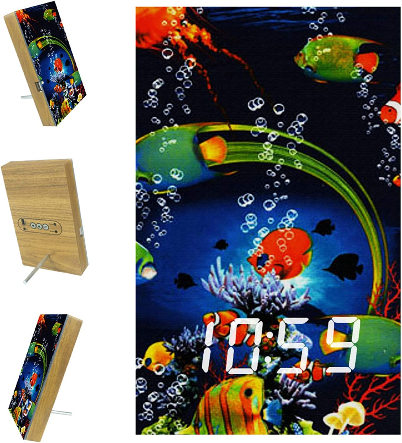 Digital Alarm Clock Complete Free Shipping Ocean Fish for Ala Kitchen Bedrooms Max 63% OFF 3 Office