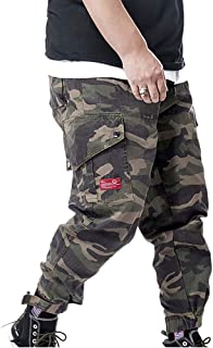 XYXIONGMAO Streetwear Joggers Hip Hop Cargo Pants for Men Camouflage Plus Size Loose Casual Pants Multi-Pocket Overalls
