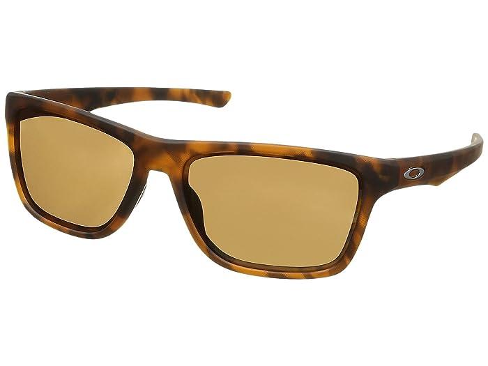 Oakley Holston (Matte Brown Tortoise w/ Prizm Tungsten) Sport Sunglasses