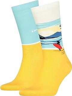 Levi's Surf Scenic Regular Cut Socks (2 Pack) Calzini Unisex-Adulto