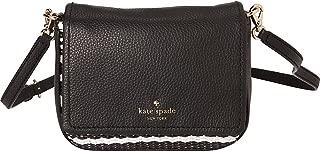 Kate Spade New York Women's Cobble Hill Straw Abela Black/Cement Handbag